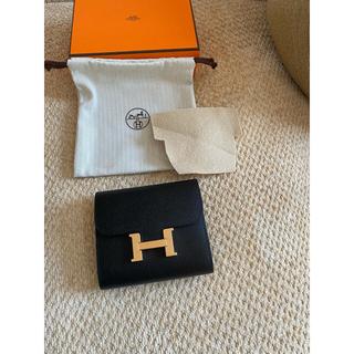 Hermes - コンスタンスコンパクト・ブラック×ローズゴールド金具