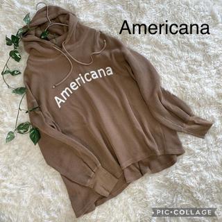 アメリカーナ(AMERICANA)のAmericana  サーマルロゴパーカー ワッフルロゴパーカー(パーカー)