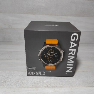 GARMINガーミン FENIX 5Plus Sapphire Ti Grey