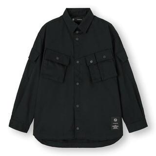 アンダーカバー(UNDERCOVER)の黒XL新品 GU UNDERCOVER ミリタリージャケット  ブルゾン シャツ(シャツ)