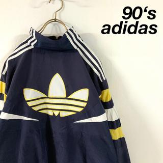 adidas - 90's adidas ビッグトレフォイル刺繍 ナイロンジャケット