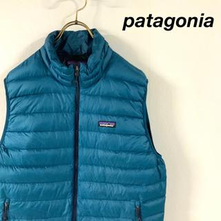 パタゴニア(patagonia)の【美品】patagonia  パタゴニア グースダウンベスト 渋カラー(ベスト)