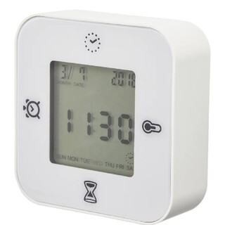 IKEA - IKEA イケア クロッキス 置時計 置き時計 時計 白 ホワイト