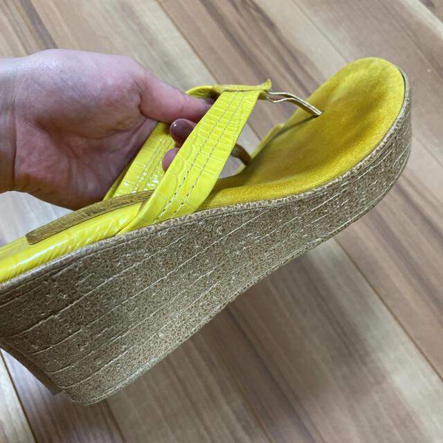ISLAND SLIPPER(アイランドスリッパ)のアイランドスリッパ ウエッジサンダル イエロー レディースの靴/シューズ(サンダル)の商品写真