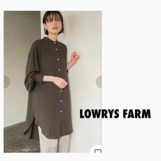 ローリーズファーム(LOWRYS FARM)のLOWRYS FARM ローリーズファーム バンドカラールーズシャツ(シャツ/ブラウス(長袖/七分))