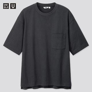 UNIQLO - ユニクロU オーバーサイズクルーネックT(半袖)ネイビー L