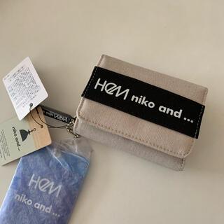 ニコアンド(niko and...)のHeM ヘム ニコアンド コラボロゴ 三つ折り財布 アイボリー(財布)