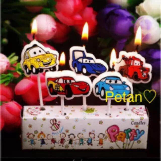 カーズ ロウソク♦ろうそく5本セット♦誕生日に♡CARS♦︎ローソク コスメ/美容のリラクゼーション(キャンドル)の商品写真