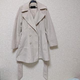 セシルマクビー(CECIL McBEE)のCECIL McBEE アウター コート クリーム色 レディース(ロングコート)