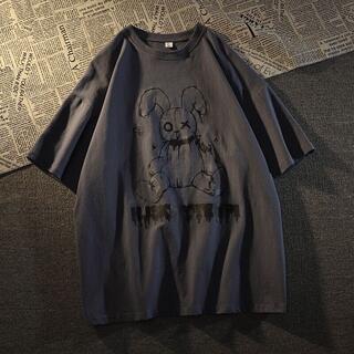 【新品!未使用!フォロー割!】病みうさ 半袖Tシャツ ブラック