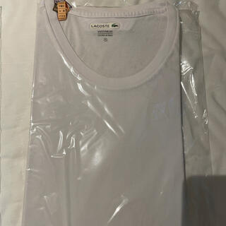 LACOSTE - 連休スペシャル!ラコステWhiteTシャツ裾にラコステワンポイントロゴ試着極美品