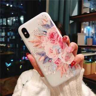 iPhone ケース カバー ソフトケース TPU エレガント 傷防止 花柄