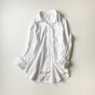 DEUXIEME CLASSE - ドゥーズィエムクラス コットンローンシャツ 白シャツ 長袖シャツ