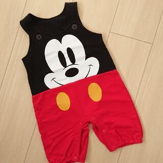 Disney - ミッキー サロペット ロンパース 80