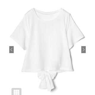 グレイル(GRL)の【新品タグ無し】グレイル・バックリボンTシャツ[ze460]〔オフホワイト〕(Tシャツ/カットソー(半袖/袖なし))