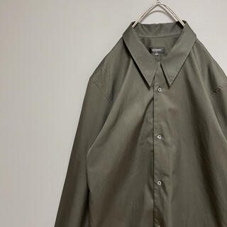 Jil Sander - 【希少カラー】ジルサンダー 長袖シャツ イタリア製 コットン グリーン