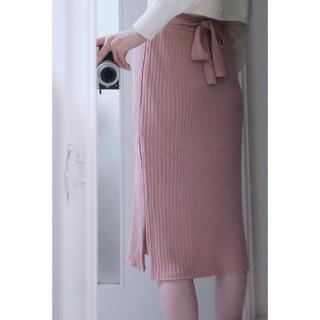 ミッシュマッシュ(MISCH MASCH)の新品 MISCH MASCH ミッシュマッシュ リボン ベルト ニット スカート(ひざ丈スカート)