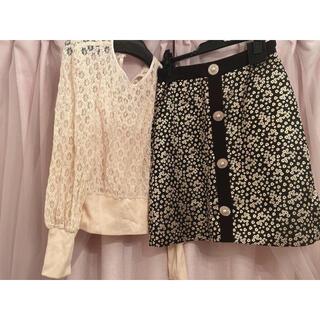 リリーブラウン(Lily Brown)のレーストップス スカート セット売り♡(セット/コーデ)