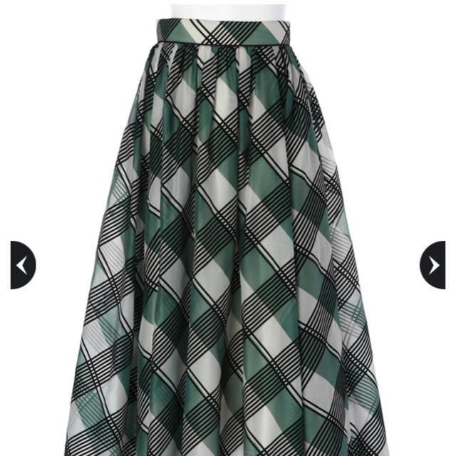 Apuweiser-riche(アプワイザーリッシェ)のタグあり新品★Apuweiser-riche フロッキーチェックフレアスカート レディースのスカート(ロングスカート)の商品写真