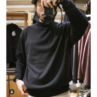 COMOLI - HERILL ヘリル Cashmere Navy Gob Sweater 3