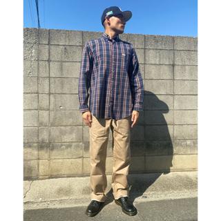 carhartt - Carhartt カーハート ロゴ入りポケットレトロワークチェックシャツ