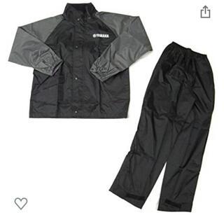 ヤマハ(ヤマハ)のヤマハ(YAMAHA)バイク用レインスーツ セパレート ガンメタル Mサイズ(装備/装具)