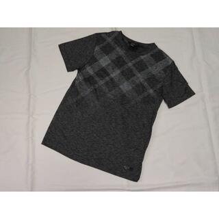 ブラックレーベルクレストブリッジ(BLACK LABEL CRESTBRIDGE)のブラックレーベルクレストブリッジ 半袖デザインカットソー M 濃灰(Tシャツ/カットソー(半袖/袖なし))