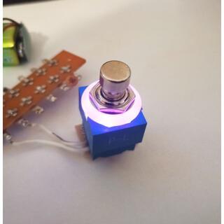 LED付き 3PDT フットスイッチ 紫 FootSwitch PURPLE(エフェクター)