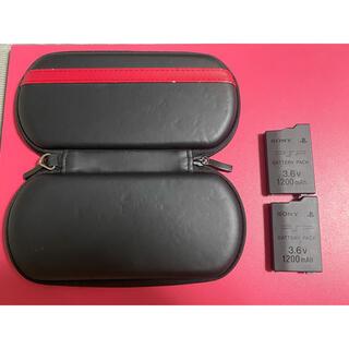 PlayStation Portable - PSP 純正バッテリー2個 ケース