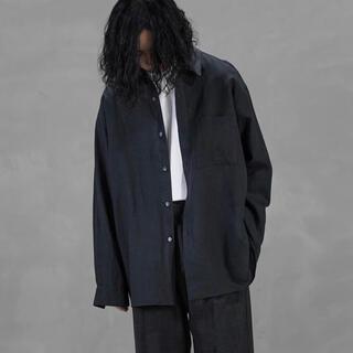 COMOLI - WIRROW / Linen Regular Collar Shirt
