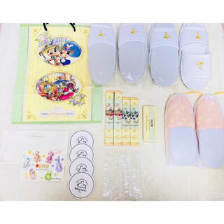 Disney - ディズニーランドホテル アメニティセット スリッパ 歯ブラシ ショップ袋 新品♡