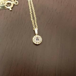 agete - 激安 超美品 ベルシオラ K18 一粒ダイヤ ネックレス