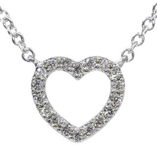 Tiffany & Co. - ティファニー Tiffany K18WG メトロ ハート ダイヤ ネックレス