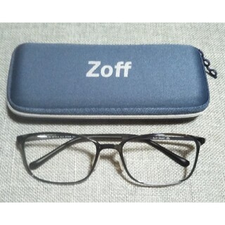 ゾフ(Zoff)のZoff  ゾフ  ネガネフレーム  グレー     最新    新品   軽量(サングラス/メガネ)