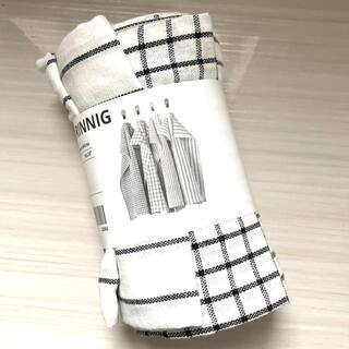 イケア(IKEA)のRINNIG リンニング キッチンクロス 4枚セット(収納/キッチン雑貨)