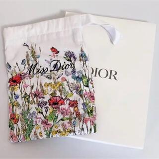 Dior - 【新品・非売品】Dior  miss dior  ノベルティ 刺繍 巾着