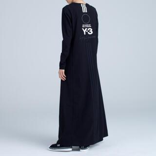 Y-3 - Y-3 15周年 ロゴ バックプリント ロングスリーブワンピース ブラック
