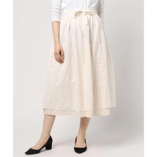 サマンサモスモス(SM2)の未使用 SM2 サマンサモスモス ロングスカート リバーシブル 白 ホワイト(ロングスカート)