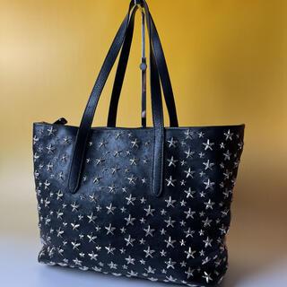 JIMMY CHOO - JIMMY CHOO 美品 黒 ハンドバッグ ソフィア スター 星 ジミーチュウ