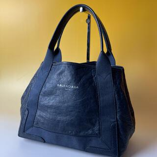 バレンシアガ(Balenciaga)のBALENCIAGA 美品 レザー ネイビーカバス ハンドバッグ バレンシアガ(ハンドバッグ)