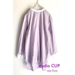 STUDIO CLIP - studio CLIP スタディオ クリップ スタンドカラーシャツブラウス 長袖