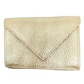 セールLUXE コンパクトウォレット人気の三つ折りミニ財布
