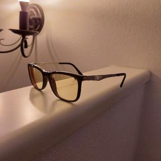おしゃれ‼️ 値下げ‼️ オレンジカラーレンズ度付き眼鏡
