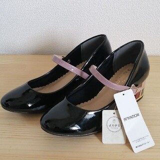 axes femme - axes femme エナメルパンプス 未使用タグ付き 黒  定価4,900 M