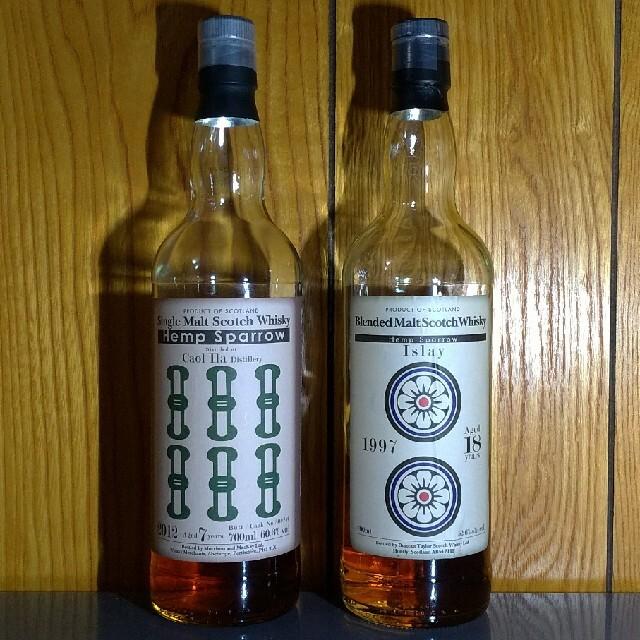 開封済み ヘンプスパロー ブレンデッドアイラ カリラ 食品/飲料/酒の酒(ウイスキー)の商品写真