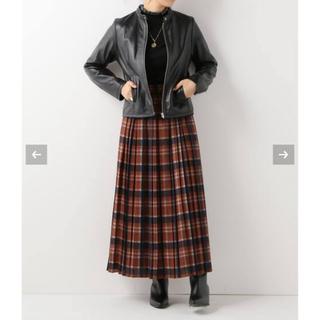 Simplicite - シンプリシテェ チェック柄プリーツスカート ロングスカート