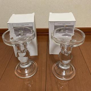 スリーコインズ(3COINS)のガラスキャンドルホルダー(アロマ/キャンドル)
