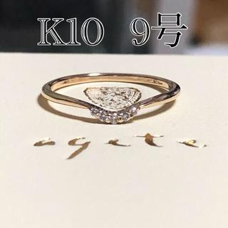 agete - 【美品】アガット ダイヤ リング K10 agete