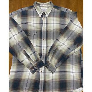 90's ボタンダウン オンブレチェックシャツ