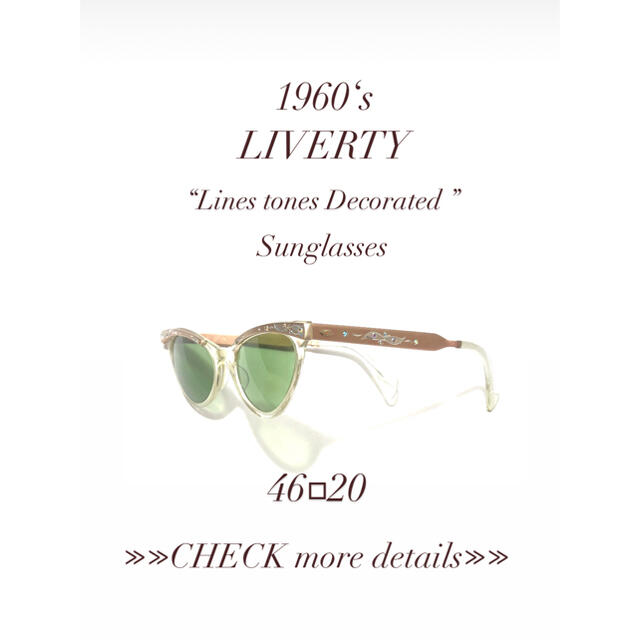 【1960's】LIVERTY レディースのファッション小物(サングラス/メガネ)の商品写真